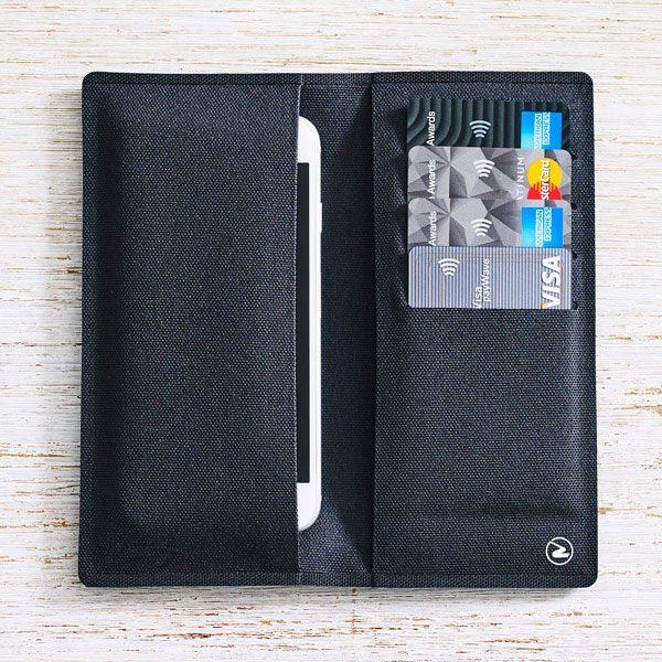 Zilfer Wallet Black opened out internal