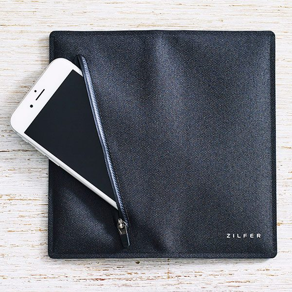 Zilfer Wallet Black opened out with pocket