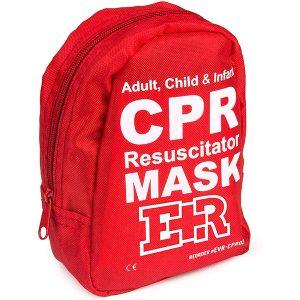 CPR Resuscitator Mask Kit Pocket Size - angle
